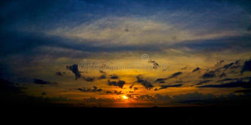 Nubes la Florida de la puesta del sol foto de archivo libre de regalías