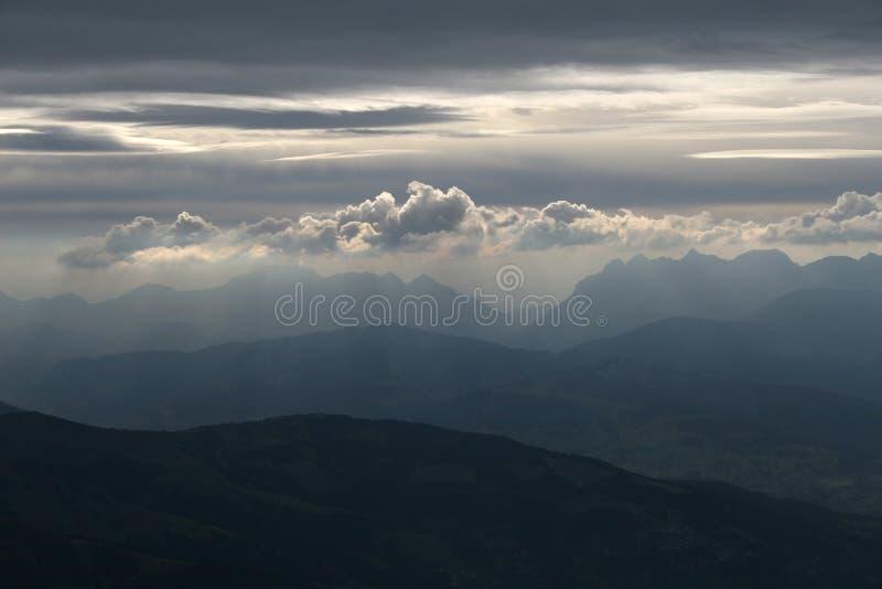 Nubes místicas foto de archivo libre de regalías