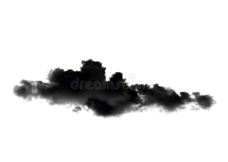 Nubes negras o humo aislado en el fondo blanco imagen de archivo libre de regalías