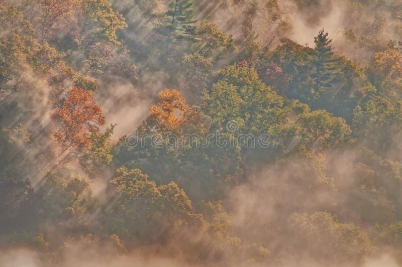 Nubes, niebla y niebla fotografía de archivo