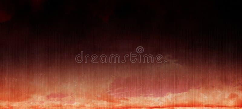 Nubes rojo oscuro Backgroud digital del ruido del Grunge fotografía de archivo libre de regalías