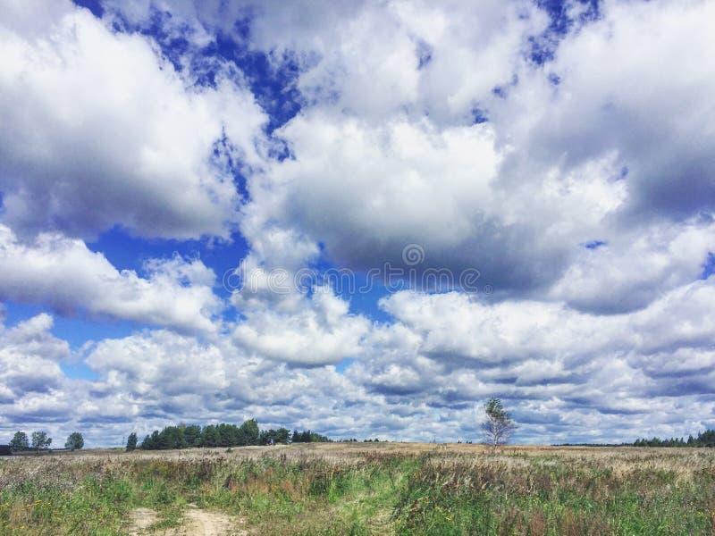 Nubes sin fin fotografía de archivo libre de regalías
