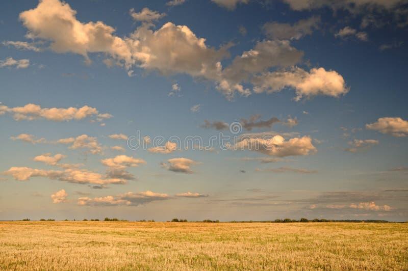 Nubes sobre el campo foto de archivo