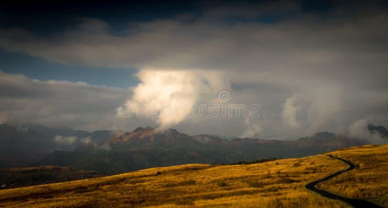 Nubes sobre Gareloch imagen de archivo