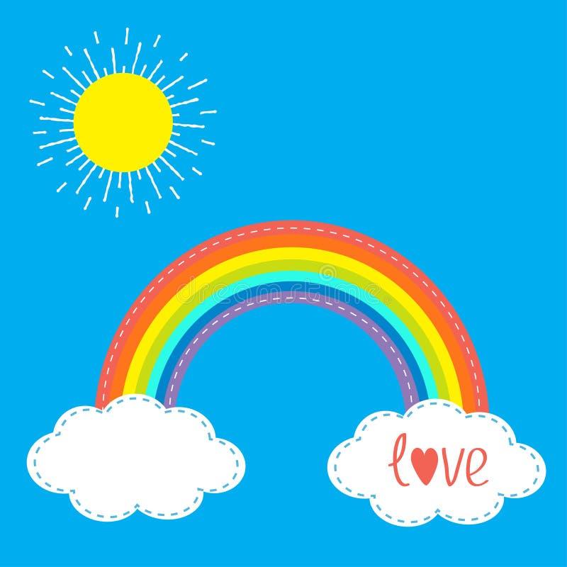 Diseño Del Rainbow Warrior Iii: Nubes Y Sol Del Arco Iris En El Cielo Línea De La Rociada