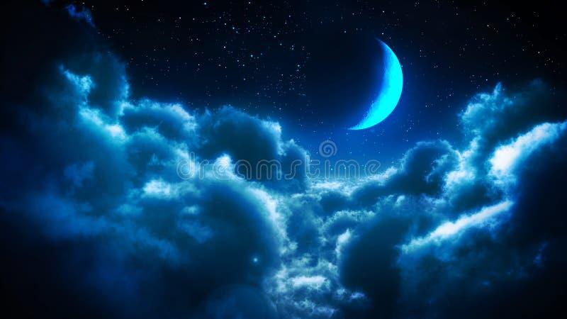 Nubi alla notte illustrazione di stock