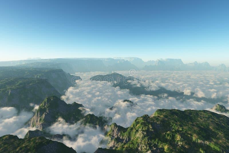 Nubi della montagna fotografia stock