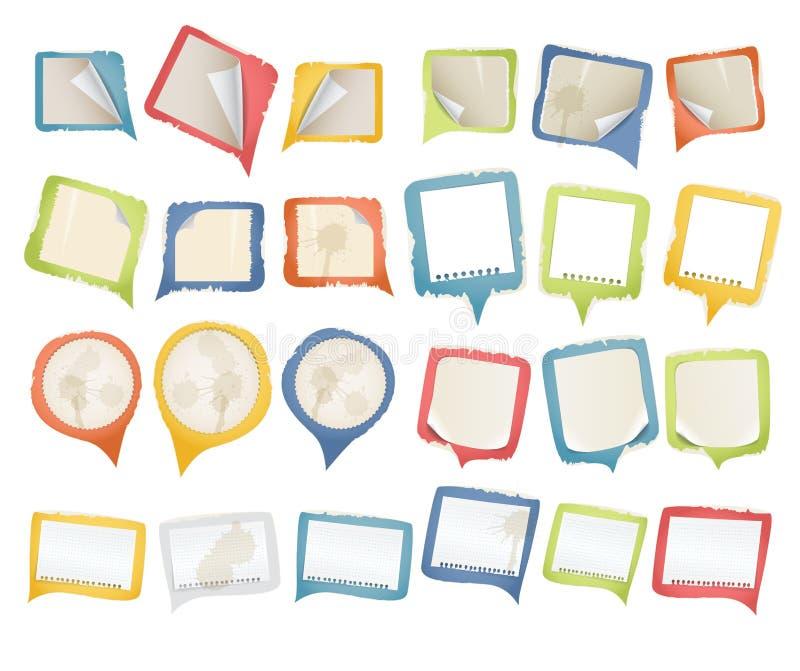 Nubi di carta di discorso dell'annata royalty illustrazione gratis