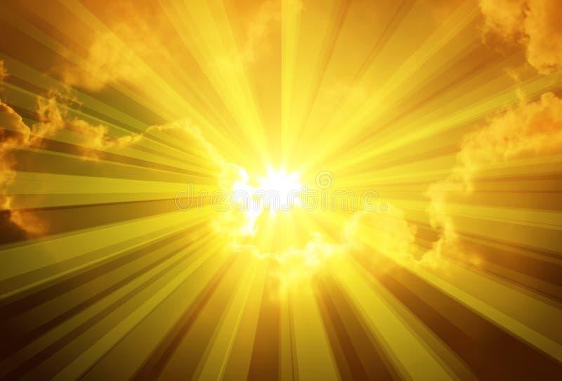 Nubi di Sun del cielo royalty illustrazione gratis