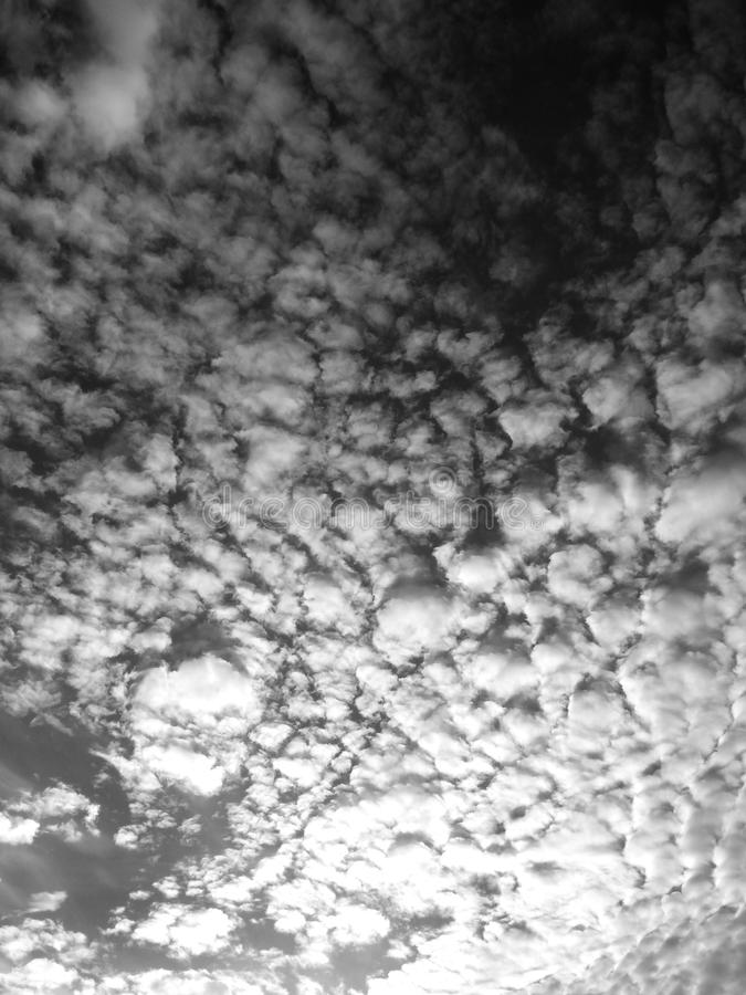 Nubi nere fotografia stock