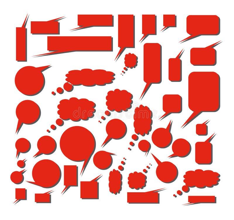 Nubi rosse per i fumetti di giorno del biglietto di S. Valentino illustrazione vettoriale