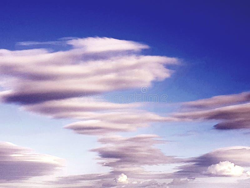 Nubi a spirale fotografie stock libere da diritti