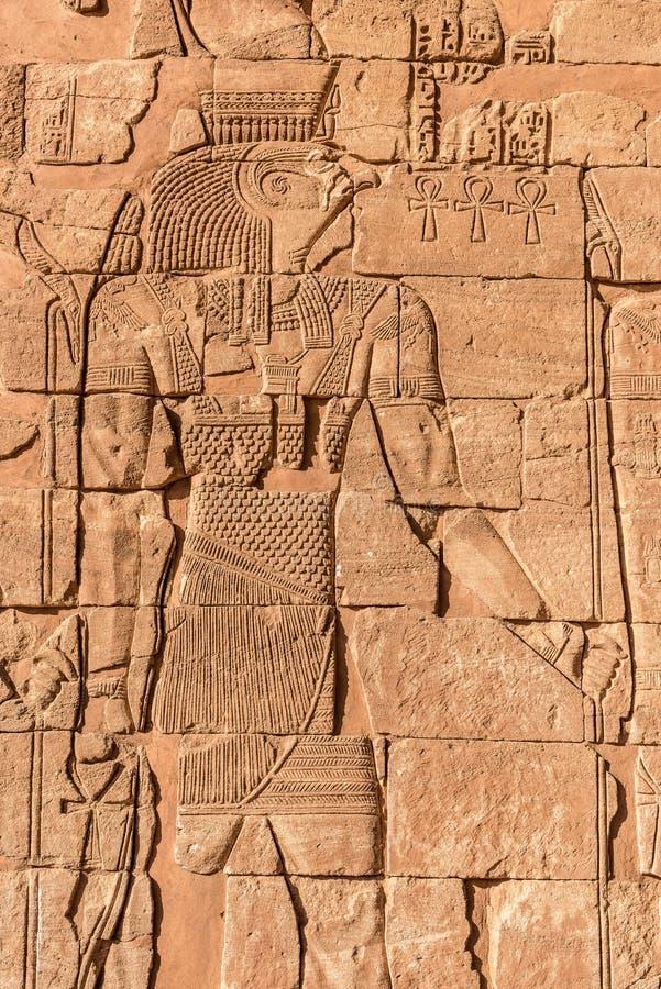 Nubian埃及人神象形文字  免版税库存图片