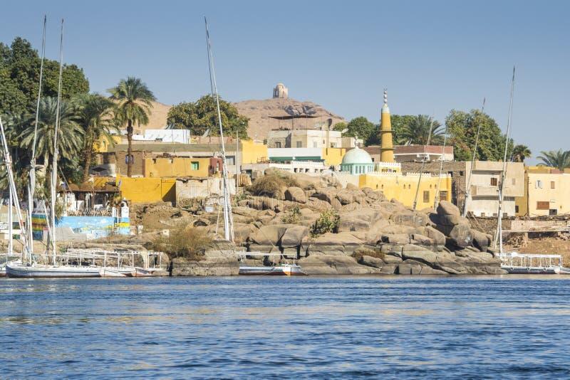 Nubian村庄,笨拙海岛,埃及 免版税库存图片