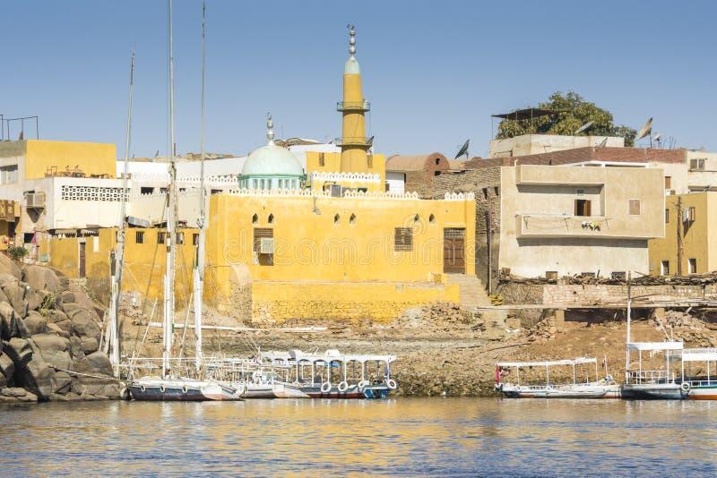 Nubian村庄,笨拙海岛,埃及 免版税库存照片