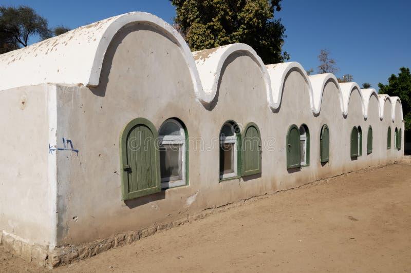 nubian egypt hus royaltyfri bild
