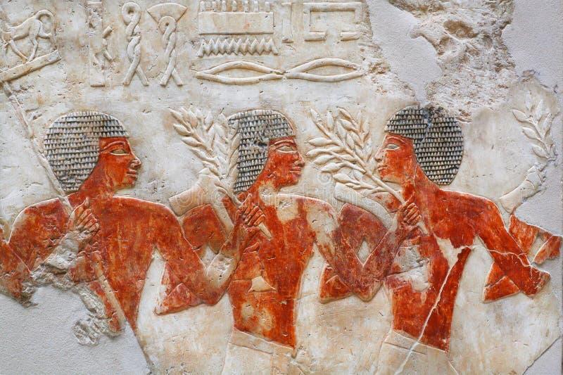 Nubian legosoldater av den forntida armén av Egypten i museum fotografering för bildbyråer