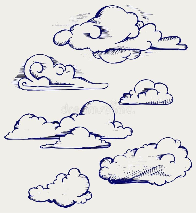 Nubla-se a coleção ilustração do vetor
