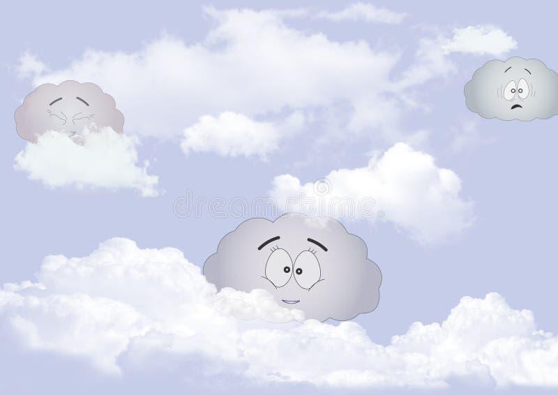 nublado ilustración del vector