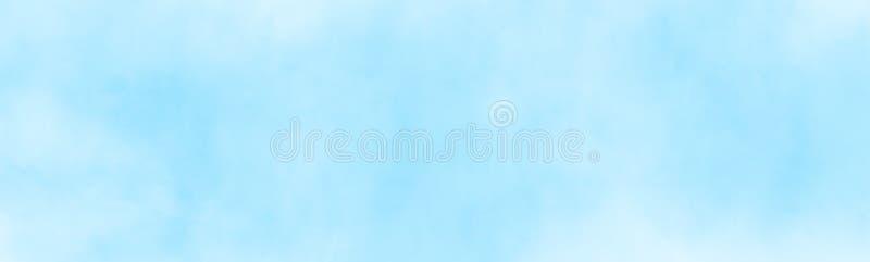 nuble acima da pintura do watercolour da nuvem ilustração do vetor