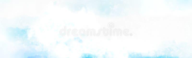 nuble acima da pintura do watercolour da nuvem ilustração royalty free