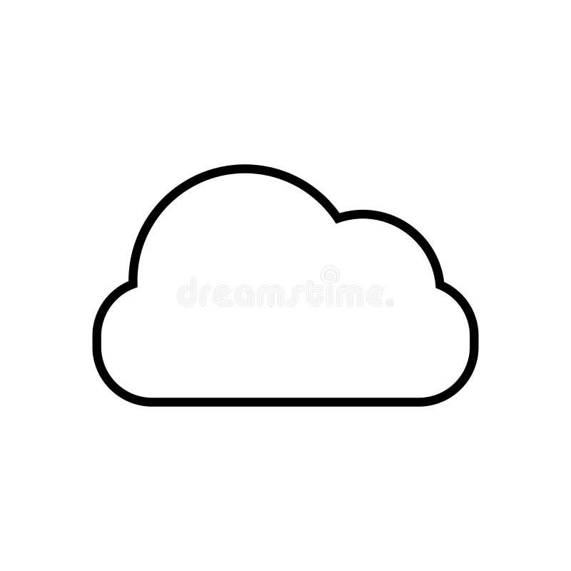 Nuble-se a ilustração do vetor do ícone do esboço para o projeto gráfico, logotipo, site, meio social, app móvel, ui ilustração do vetor