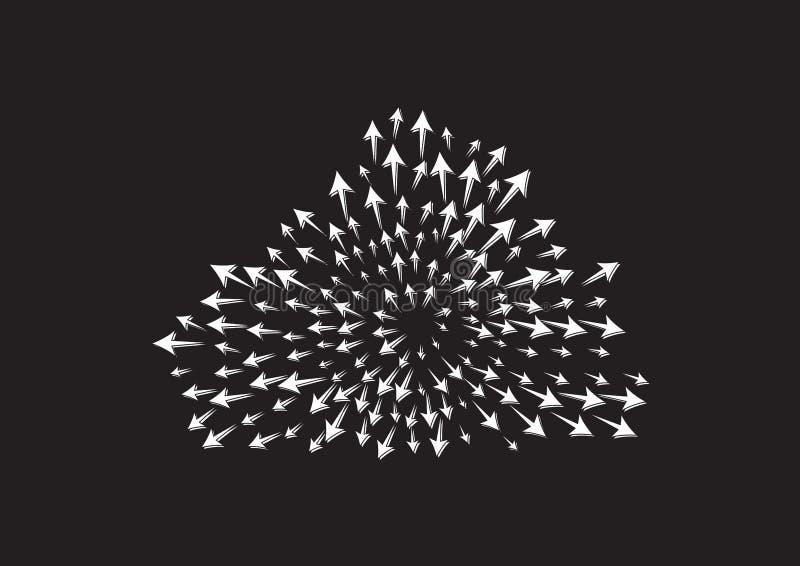 Nuble-se o ícone da seta no estilo liso na moda isolado no fundo cinzento Símbolo para seu projeto da site, logotipo da seta, app ilustração stock