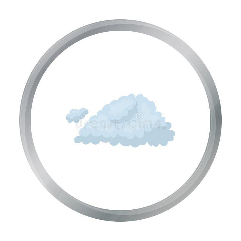 Nuble-se o ícone no estilo dos desenhos animados isolado no fundo branco Ilustração do vetor do estoque do símbolo de tempo ilustração stock