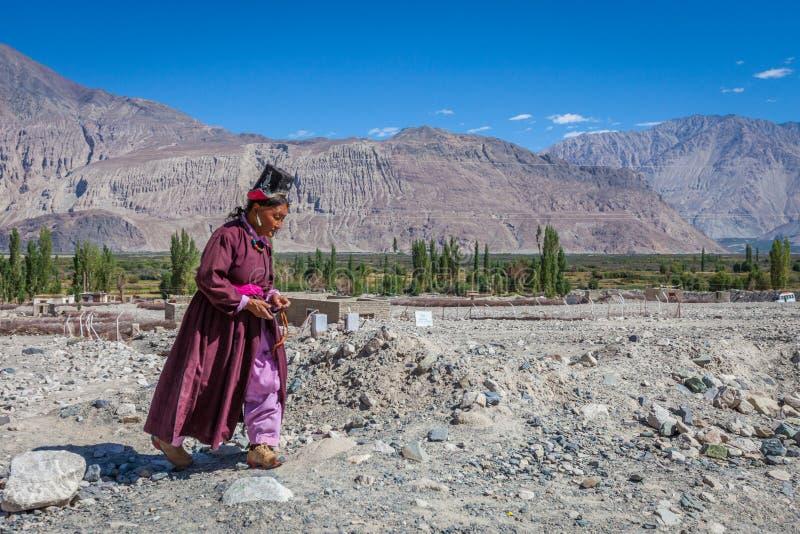 NUBRA, INDIA 7 SETTEMBRE: La gente 7, 2011 di Ladakh in Nubra, l'India immagini stock