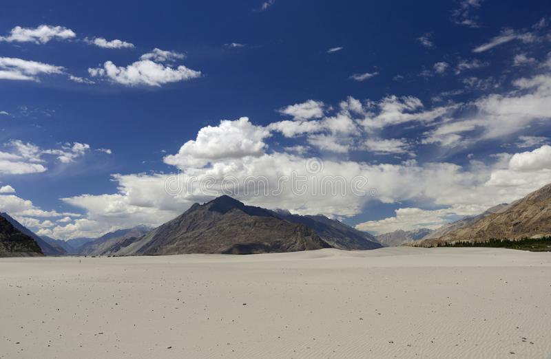 Nubra a tri-armed valley located to the north east of Ladakh valley, Ladakh, India stock photo