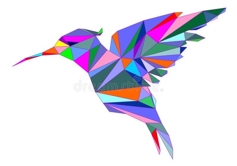 Nucić ptasiej ikony Geometryczną kreskówkę royalty ilustracja