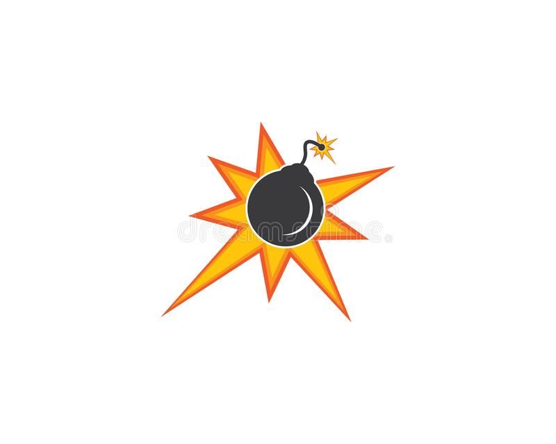Nuclear bomb logo icon royalty free illustration