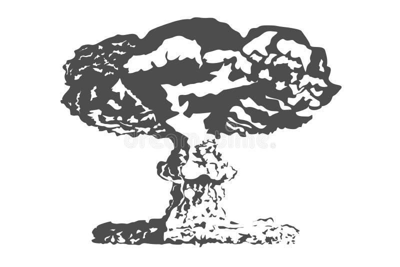 Nuclear bomb Nuclear explosion vector illustration