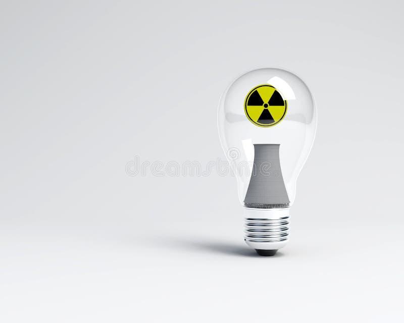 Nuclear bulb light stock photography