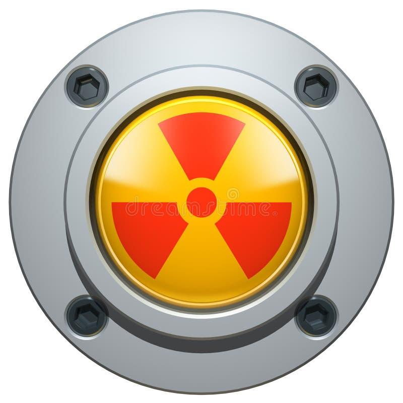 Nuclear Button vector illustration