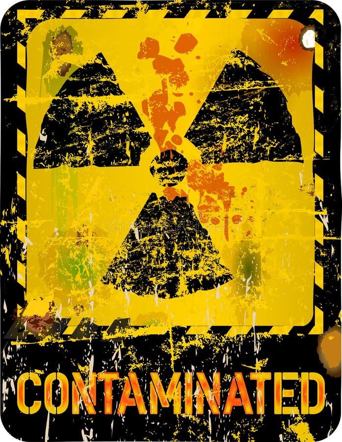 Nuclear contamination. Radiation o. nuclear contamination warning, vector illustration royalty free illustration