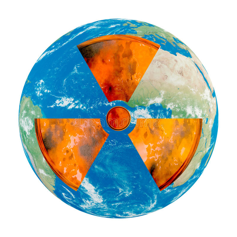 Download Nuclear danger stock illustration. Image of painting - 14081619