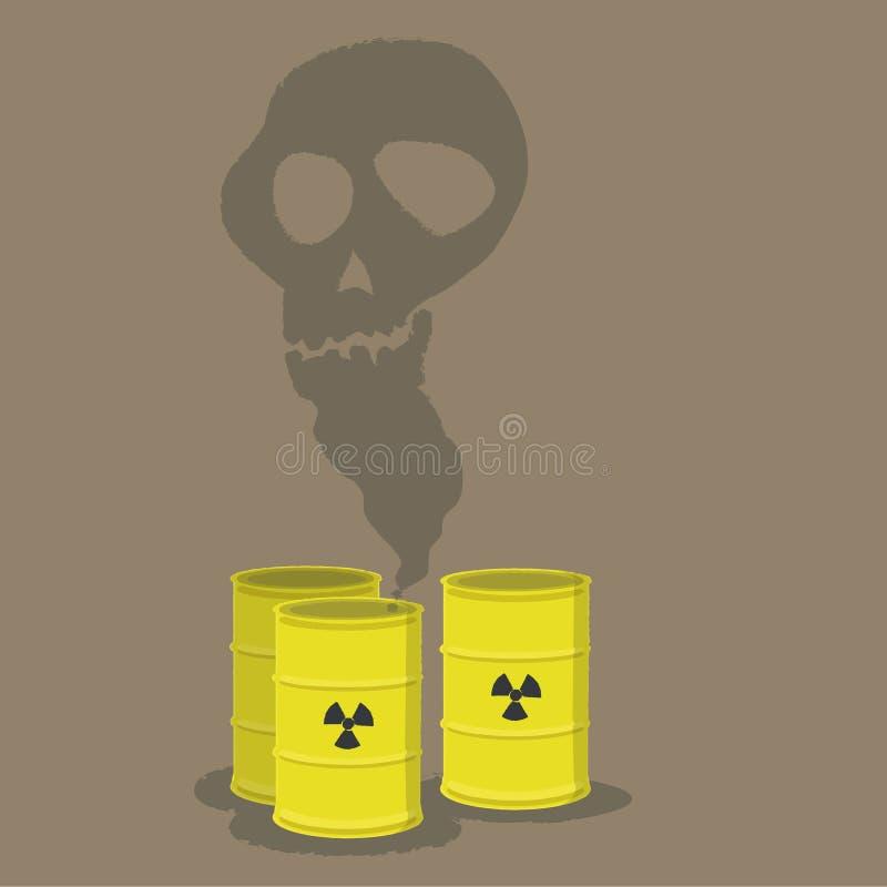 Nuclear danger stock illustration