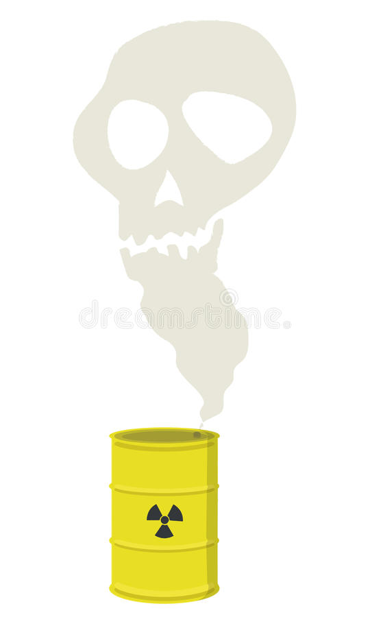 Nuclear Danger royalty free illustration