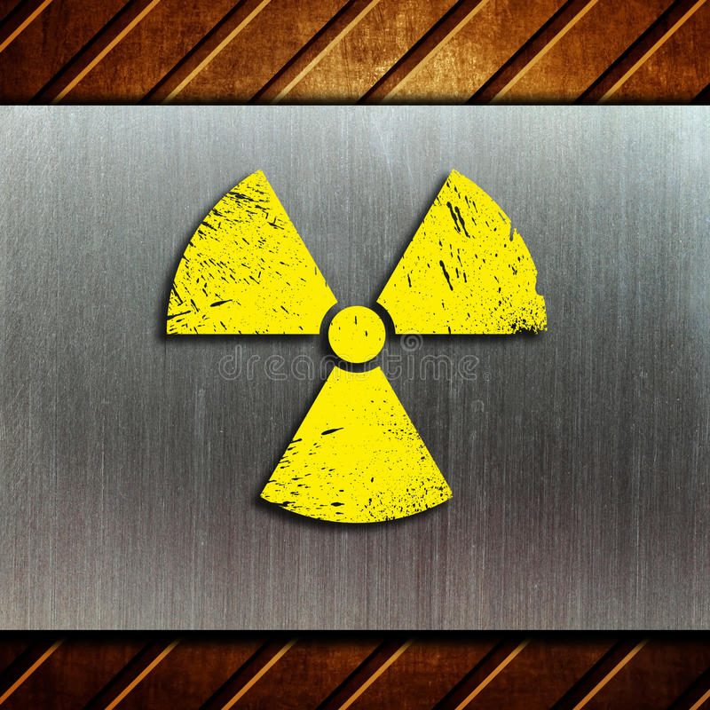 Nuclear danger warning background stock photos