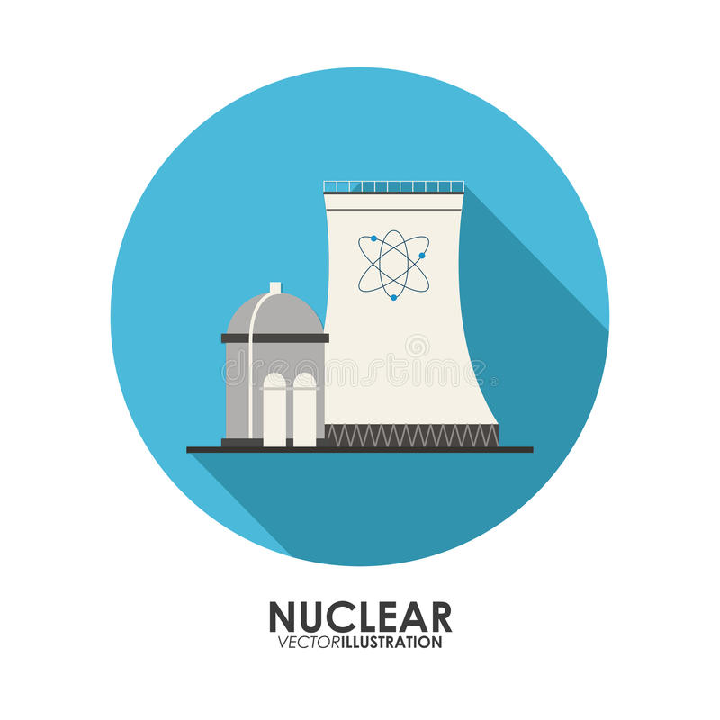 Nuclear design. danger and industry concept. Nuclear concept with icon design, vector illustration 10 eps graphic stock illustration