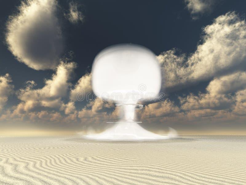 Nuclear detonation in Desert