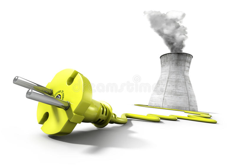 Nuclear energy concept royalty free illustration
