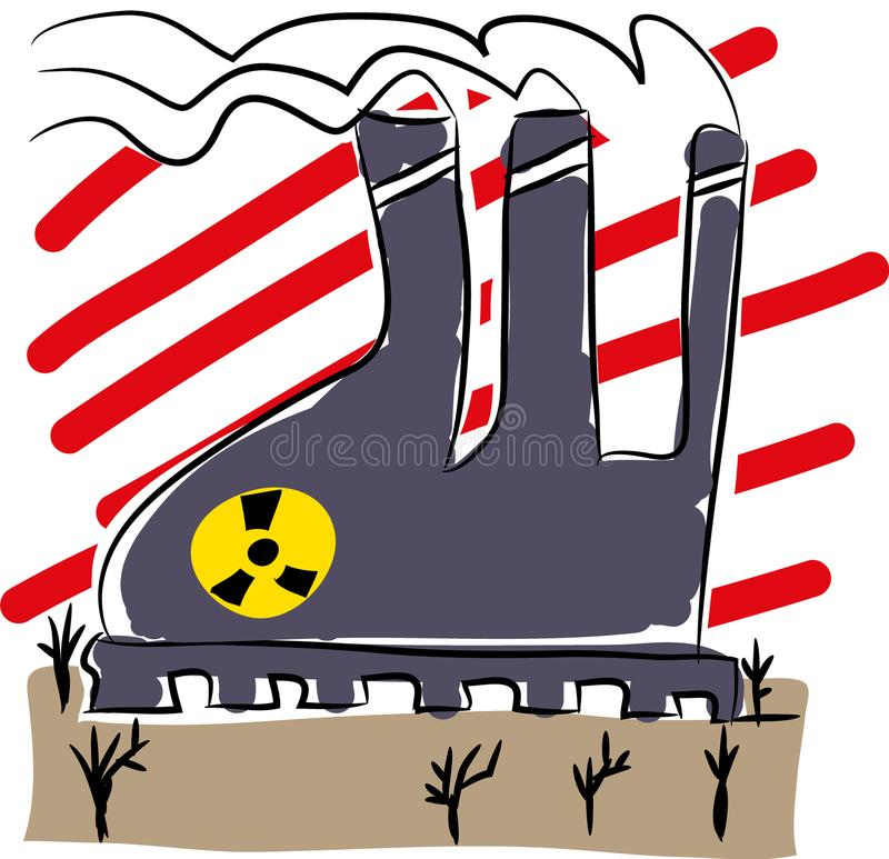 Download Nuclear Energy, Global Warming Factory Emissions. Stock Vector - Illustration of emission, global: 109205227