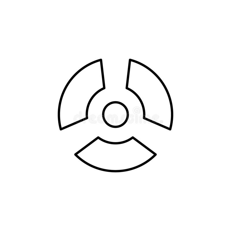nuclear energy icon. Simple thin line, outline  of Biology icons for UI and UX, website or mobile application stock illustration