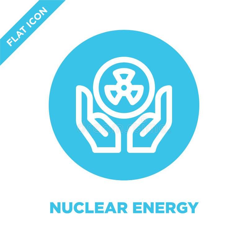 nuclear energy icon vector. Thin line nuclear energy outline icon vector illustration.nuclear energy symbol for use on web and vector illustration