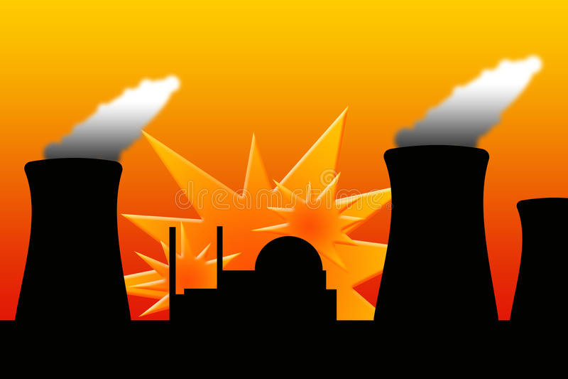 Download Nuclear explosion stock illustration. Illustration of exploding - 19168500