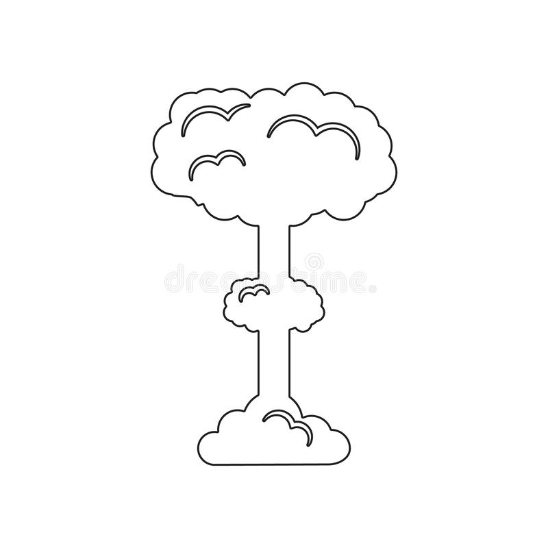 Nuclear Explosion Icon. Set of natural disasters icon. Element of Desister for mobile concept and web apps icon. Outline, thin royalty free illustration
