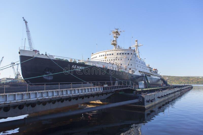 Nuclear Icebreaker Lenin Murmansk in Russia royalty free stock images