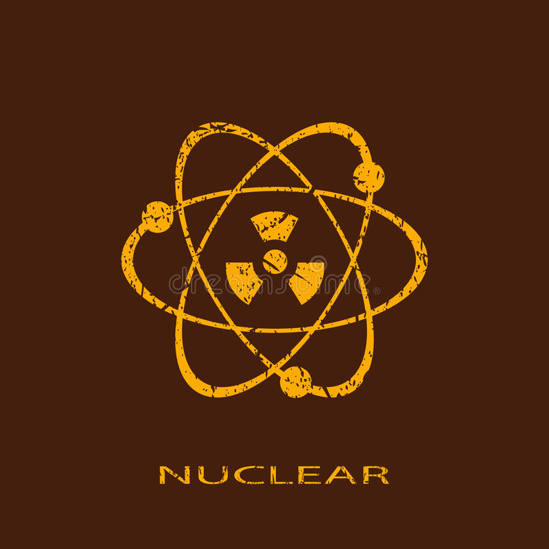 Nuclear icon stock illustration